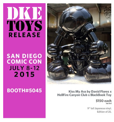 San Diego Comic-Con 2015 Exclusive Black Edition Kiss My Ass Vinyl Figure by David Flores x HellFire Canyon Club x BlackBook Toy