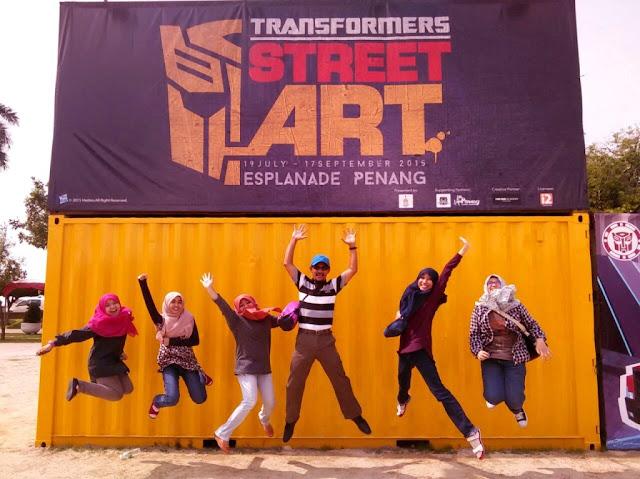 Tempat Menarik Pulau Pinang, Penang Time Tunnel, 3D Mural Art Street, street art penang, pulau pinang street art