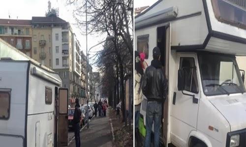 Цыганский кризис в Италии турин