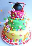 torta laurea in stile hippy