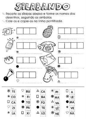 Atividades para Imprimir - Atividades para alfabetização.