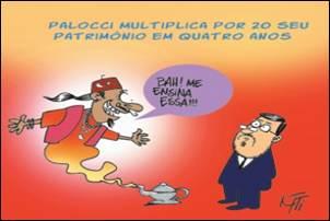 Crítica Política. Palocci e o milagre da multiplicação do patrimônio.