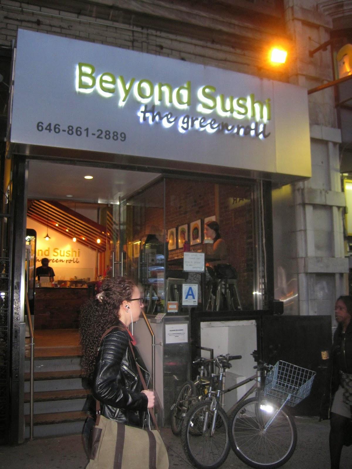 Outside Beyond Sushi NYC Blog Veega