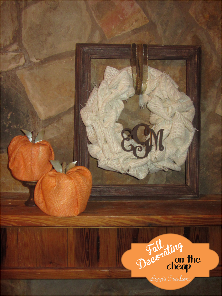 Fall Decorating On The Cheap: Burlap Wreath And Toilet Paper Pumpkins