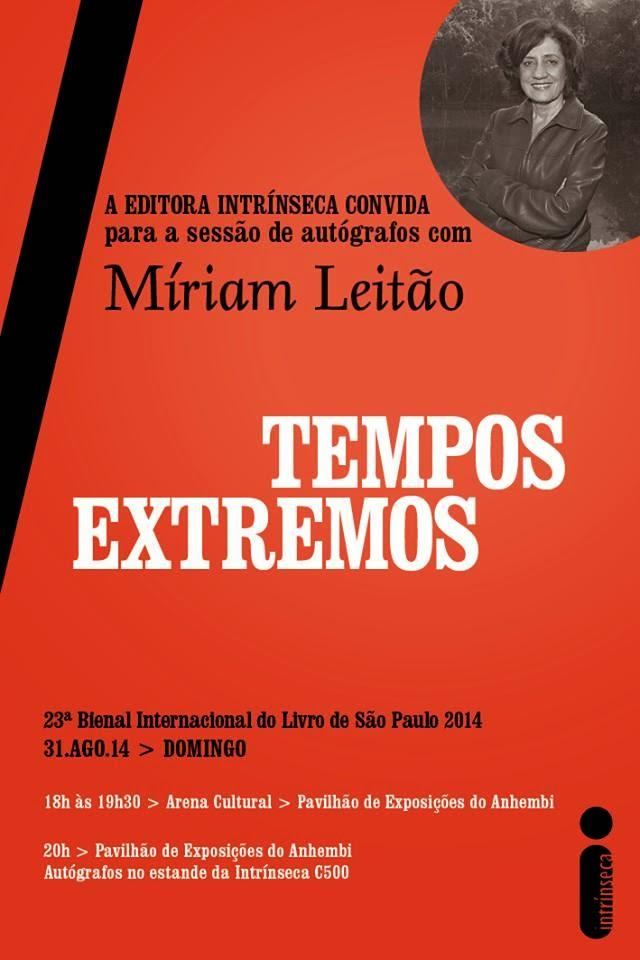Bate-papo e Sessão de Autógrafos com Míriam Leitão, autora de Tempos Extremos