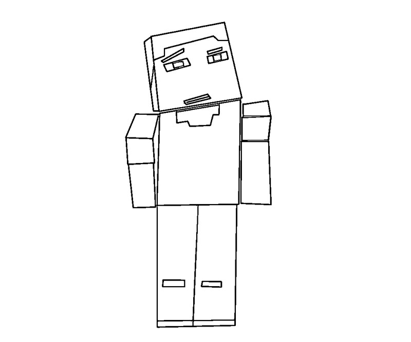 Printable Minecraft 6 Coloring Page title=