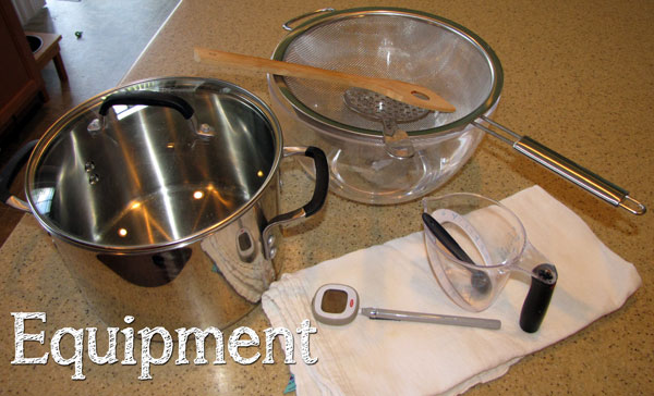 Equipments for Fresh Whole Milk Ricotta at Home