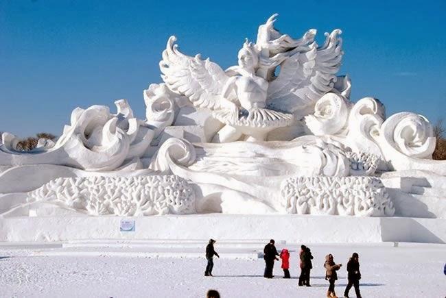 Espectaculares esculturas de nieve de Harbin