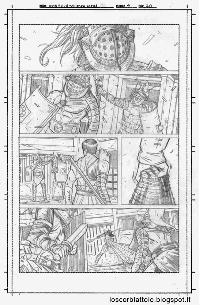 icon 1 e la squadra alpha pagina 20 matite mirko treccani gladiatori gladiators pencils