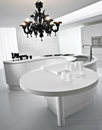 Mesas cocina diseo oferta mesa cocina o comedor de diseo con dekton blanco zenith aura vegha - Oferta mesas de cocina ...