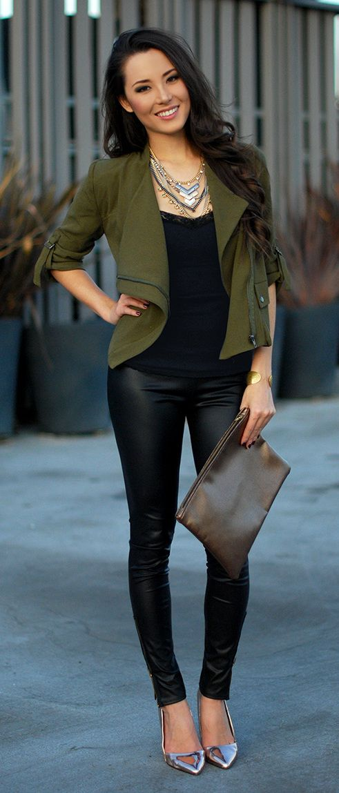 Stylish Ways to Wear Leather Trousers
