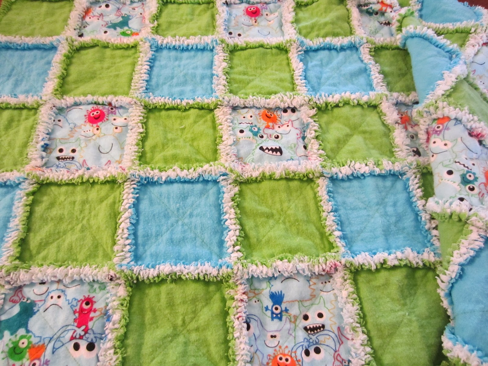 Little Monster Baby Rag Quilt