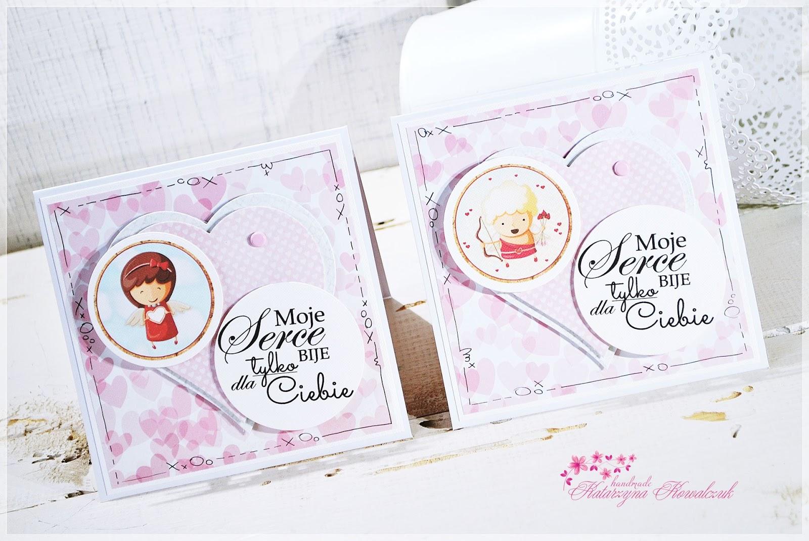 Kartka Walentynkowa scrapbooking