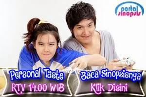 Sinopsis Drama Korea RTV 'Personal Taste'