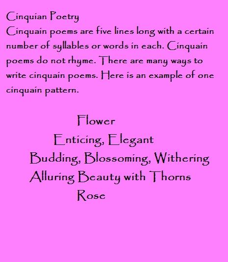 how to write a cinquain poem