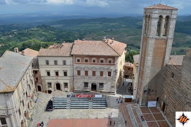 Montepulciano, vista dall'alto dal Palazzo Comunale