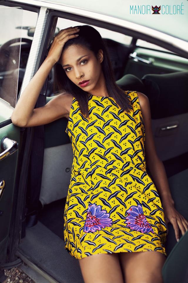 Manoir Coloré robe en pagne africain sur ciaafrique