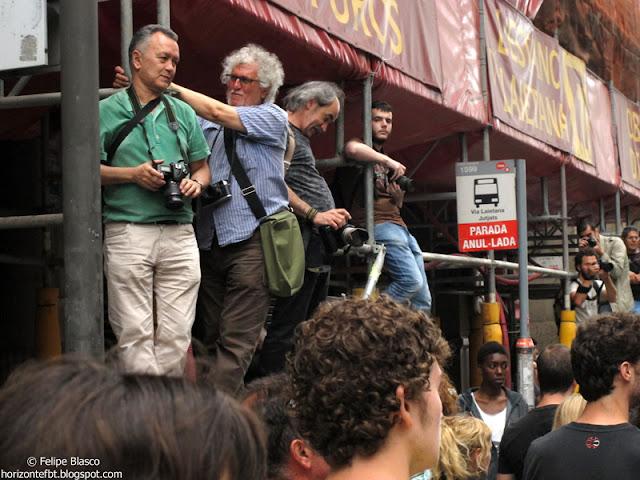 Paco Elvira, en la manifestación de los indignados del 19 de junio de 2011