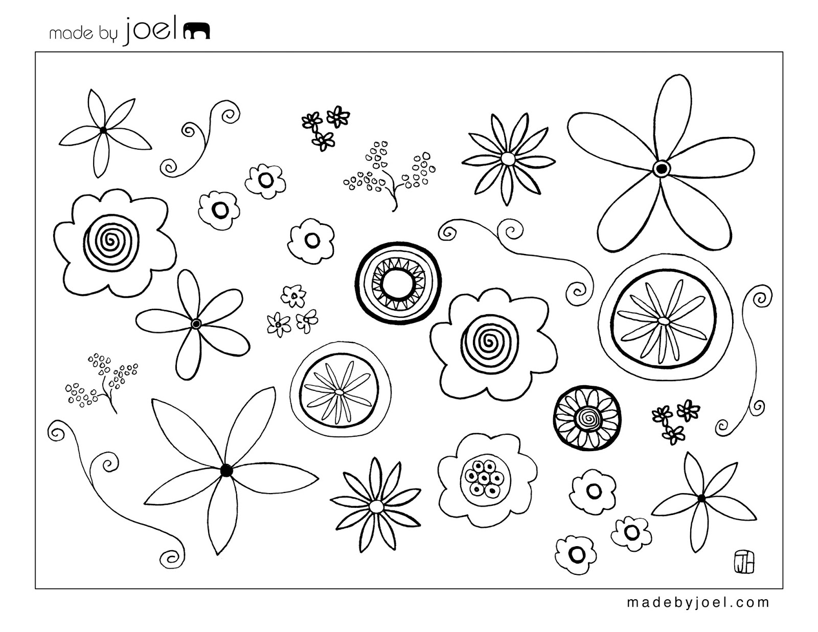 free pages templates - early play templates flower templates free