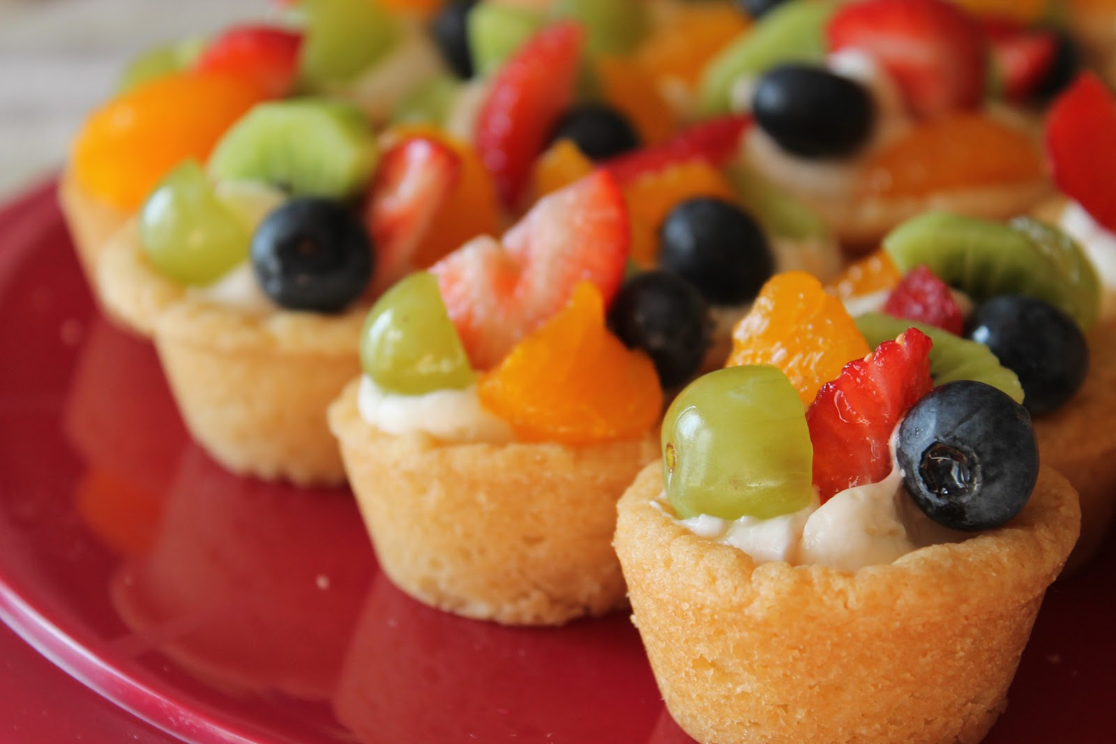 sawpinnedconquered fruit cookie cups at the pink of