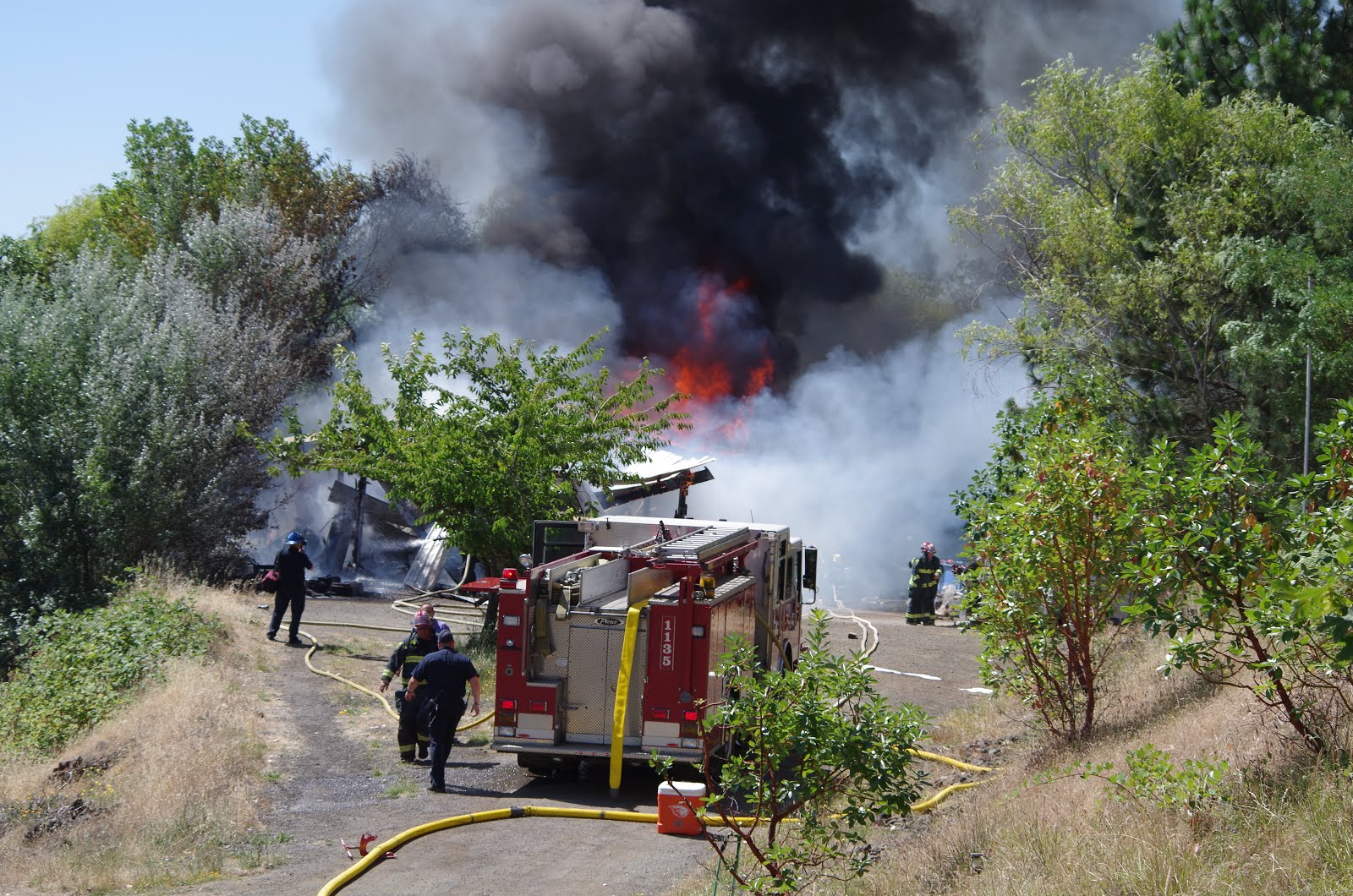 DFPA assists on structural fire July 5