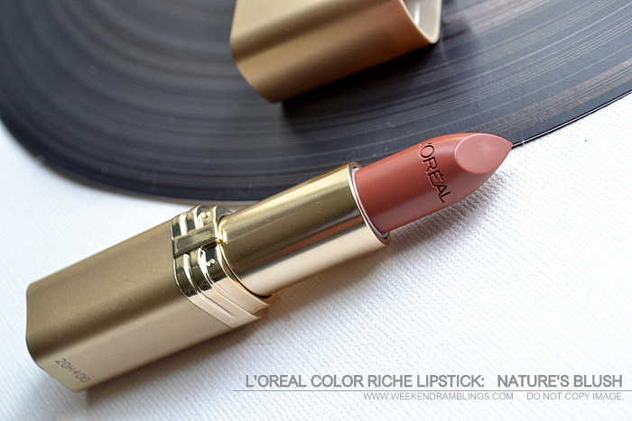 LOreal Makeup Color Riche Lipstick Natures Blush 840 Peachy Brown Lipstick Indian Skin Beauty Blog Reviews Swatches Looks FOTD