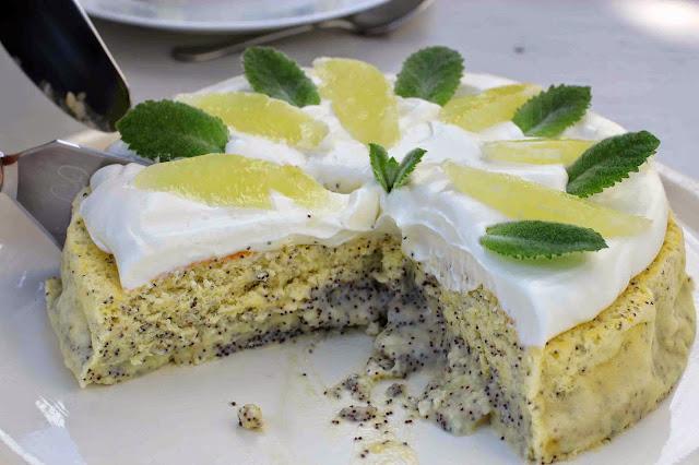 Gâteau magique citron-pavot