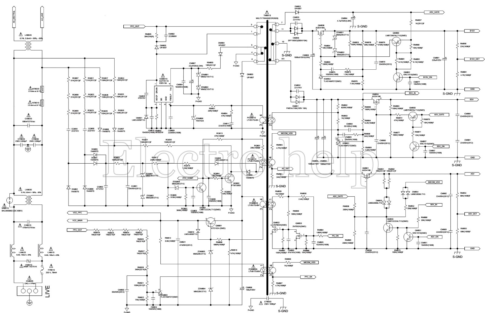 Tv Power Supply Circuit Diagrams Guide And Troubleshooting Of Samsung Schematic Lcd Smps Bn44 00508b 00118d Diagram Pdf Led