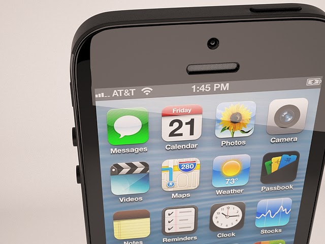 Render de Iphone5 modelado en 3ds max