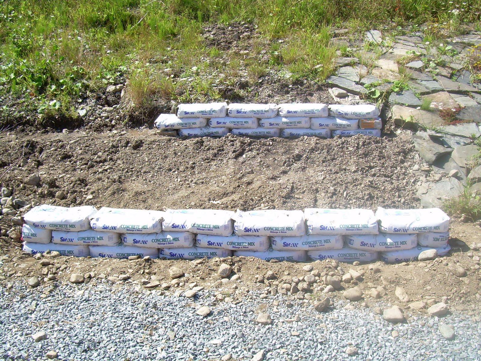 Concrete Bag Retaining Wall Design Concrete Bag Retaining