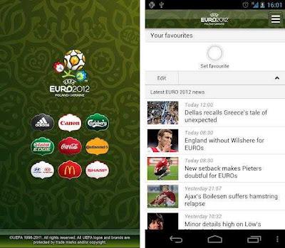 UEFA lança aplicativo oficial da Copa EURO 2012 para Android