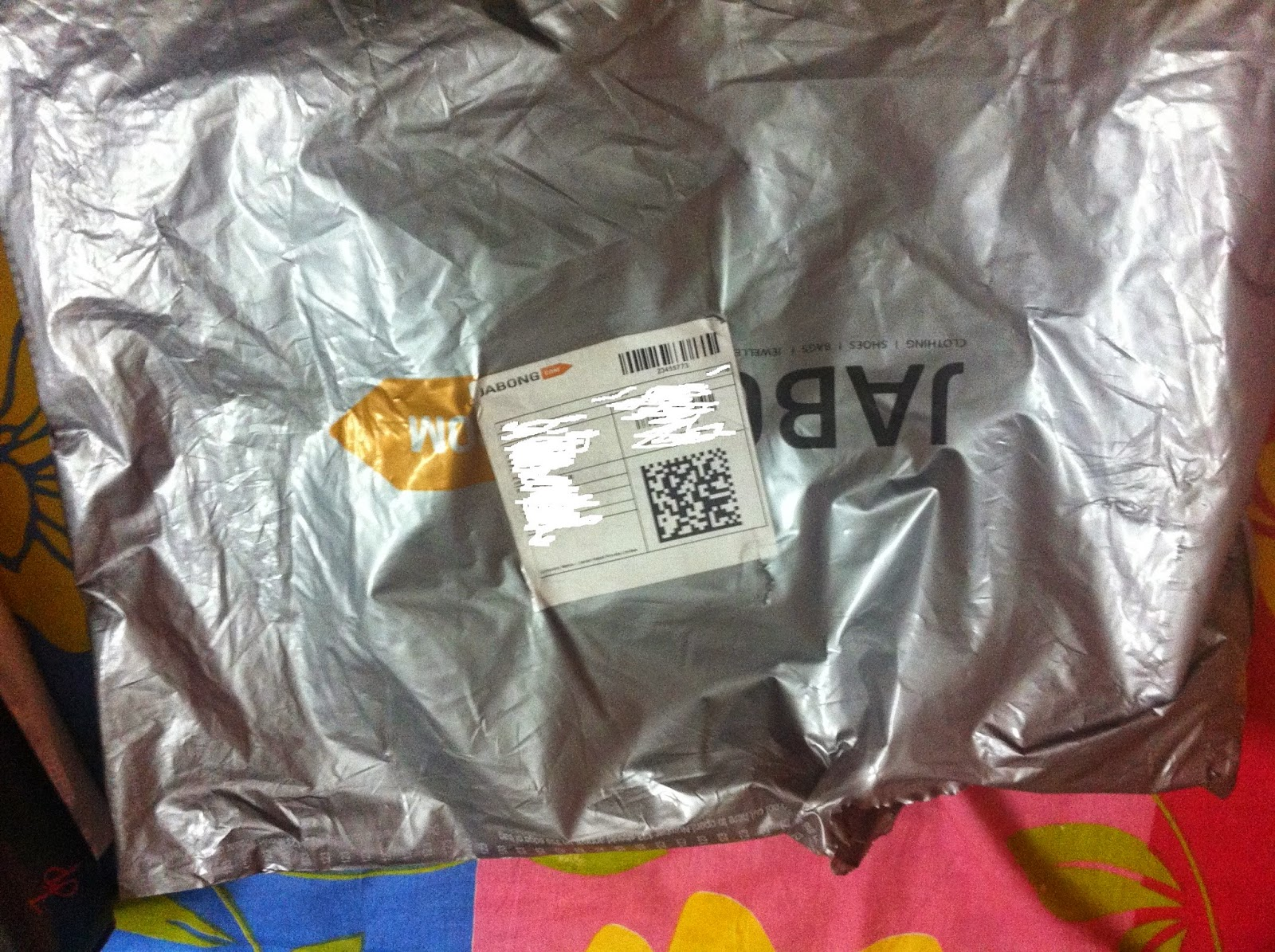 Shirt purchased from Jabong packing