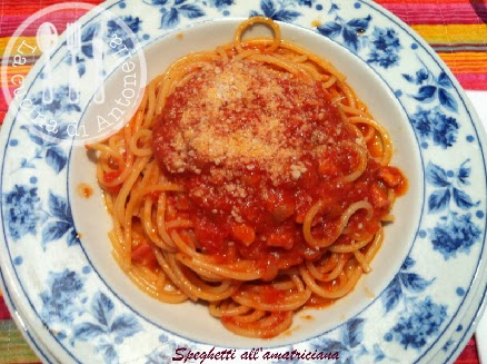 spaghetti all'amatriciana a modo mio