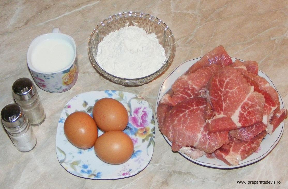 ingrediente pentru snitele de porc, ingrediente pentru un snitel de porc bun, cum se face un snitel foarte bun,