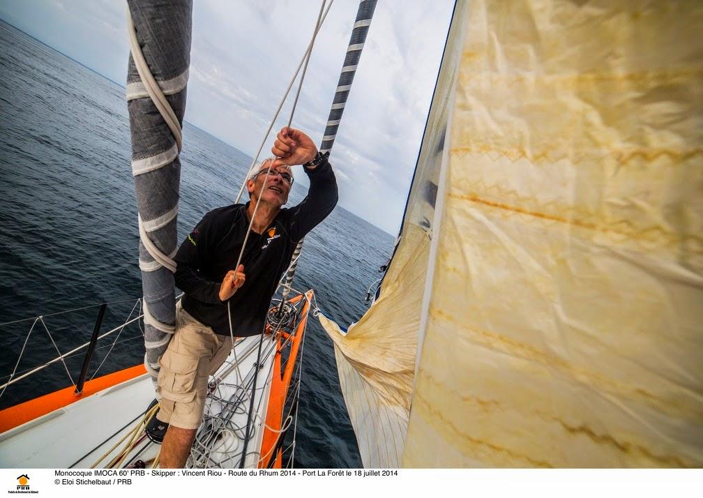 Vincent Riou reprend les nav'. Bientôt la Route du Rhum.