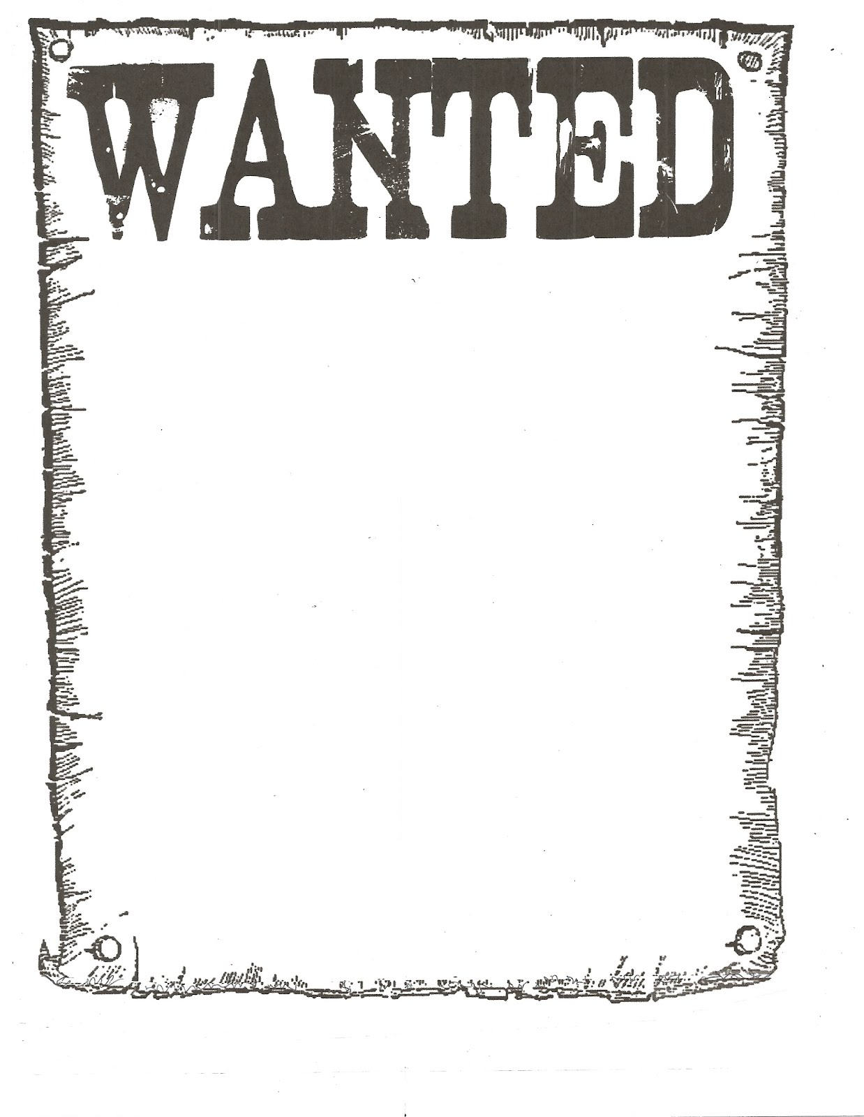 printable wanted posters – Printable Wanted Poster Template