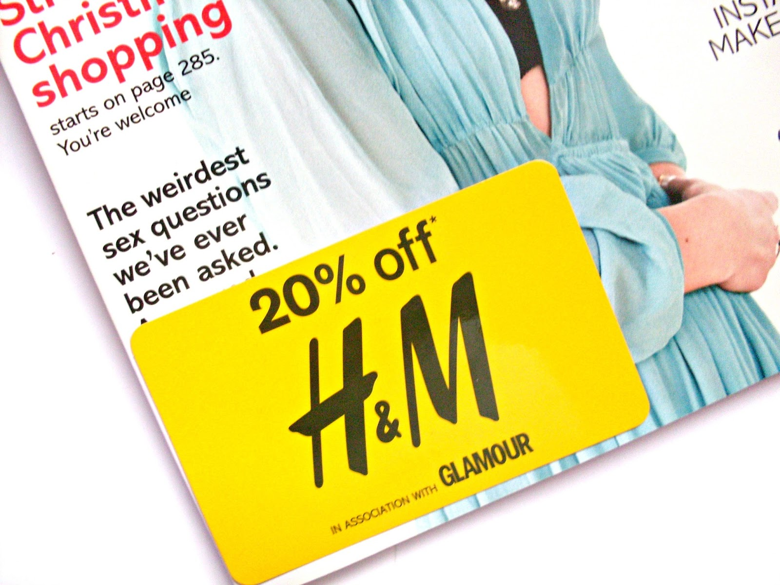 free h&m discount glamour