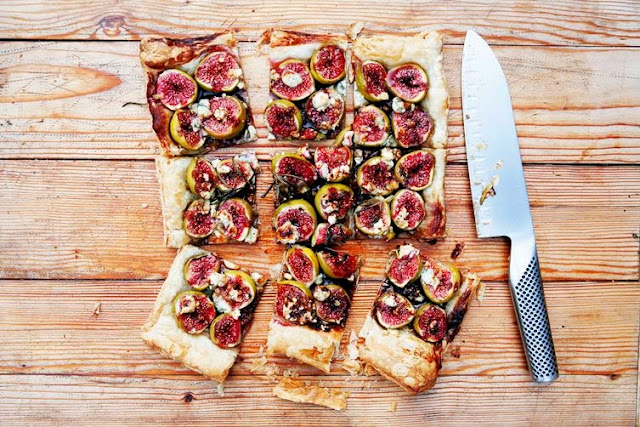 http://food52.com/recipes/24357-fig-and-blue-cheese-tart-with-honey-balsamic-and-rosemary