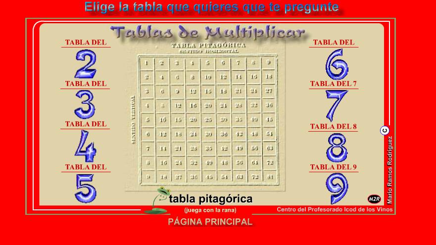 juegos para aprender las tablas: