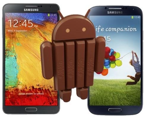 Secondo quanto riportato dall'operatore telefonico SFR android 4.4 Kitkat sarà disponibile nei mesi di gennaio e febbraio 2014 per Galaxy S4 e Note 3