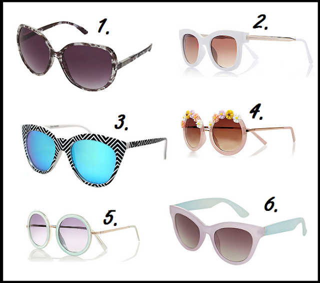 My Top High Street Sunglasses (Summer 2015)