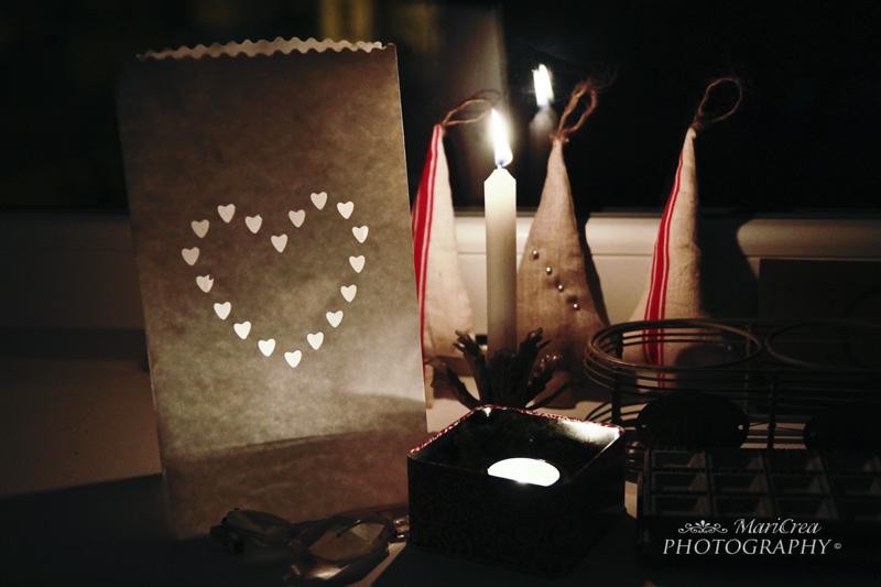 candele e lanterne di carta per Natale