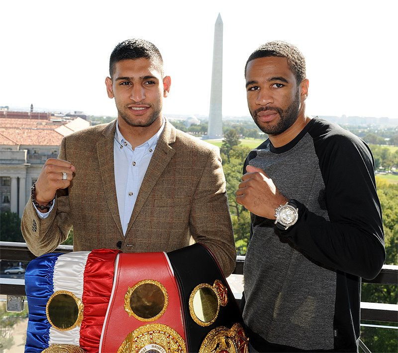 Amir Khan Boxer and Lamont Petersen