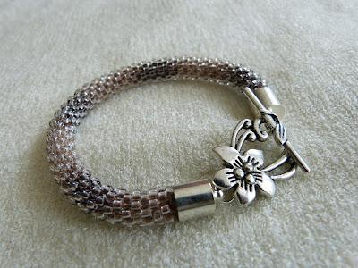 bransoletka z koralików, bransoletka cieniowana, bracelet handmade
