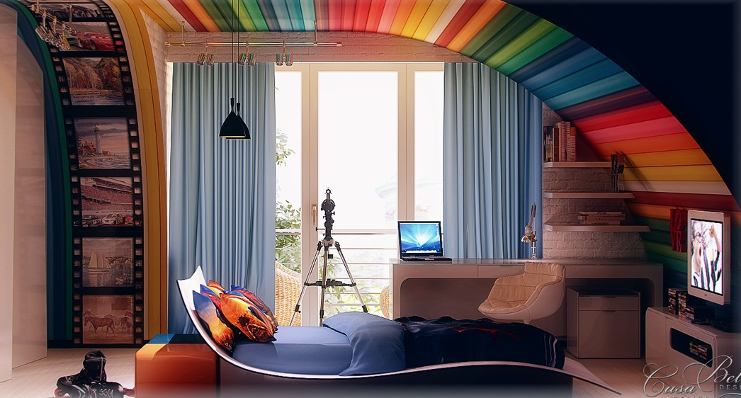 Colorful kids room interior decor ideas interior decorating home design room ideas - Colorful teen bedroom designs ...