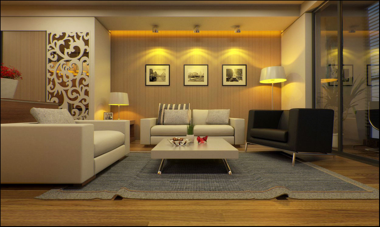 8_sketchup_model_living_room #7_vray Render_1