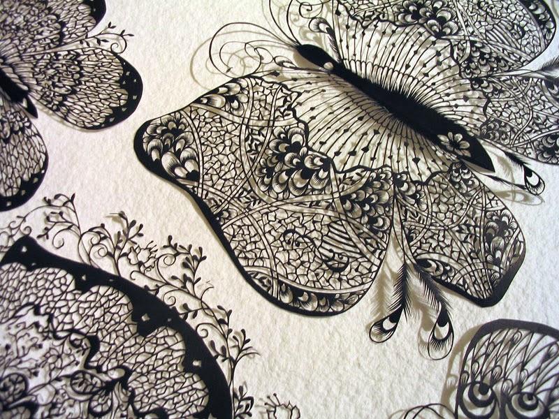 Hina Aoyama, decoupage en papel