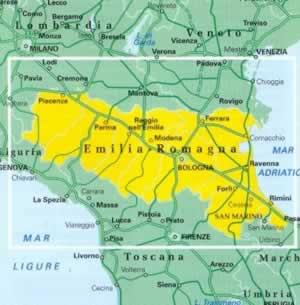Emilia Romagna Mappa Regionale