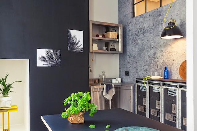 Berlin Apartment Schönenberg by Fantastic Frank  concrete wall kitchen