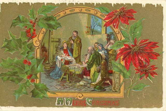 All About Christmas: EARLY RELIGIOUS CHRISTMAS CARD